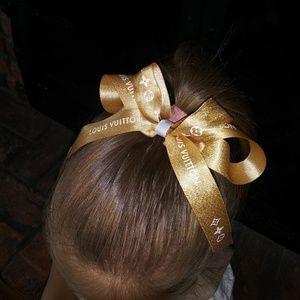 Louis Vuitton Ribbon Hair Bow